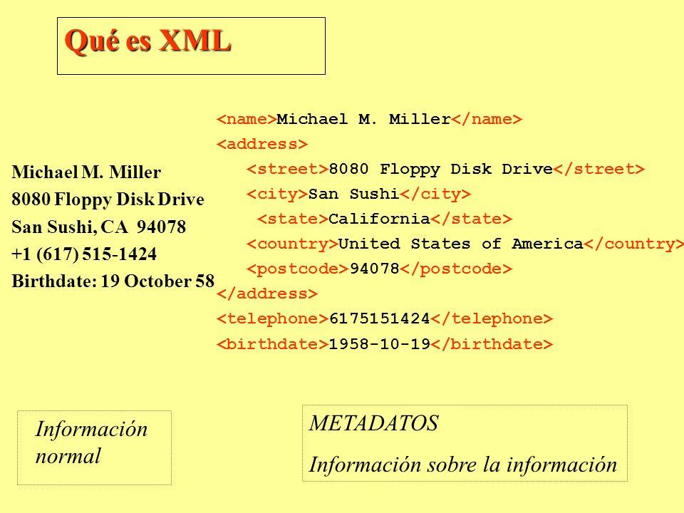 Qué es XML METADATOS Información normal