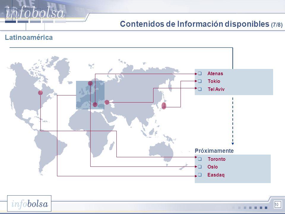 Contenidos de Información disponibles (7/8)