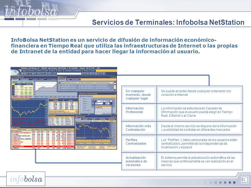 Servicios de Terminales: Infobolsa NetStation