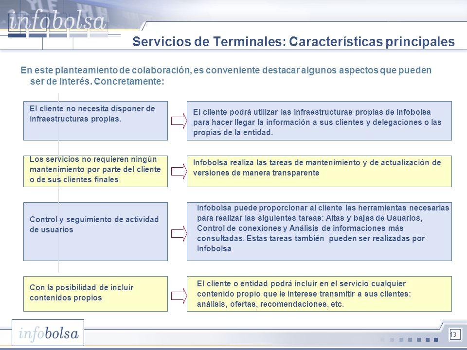 Servicios de Terminales: Características principales