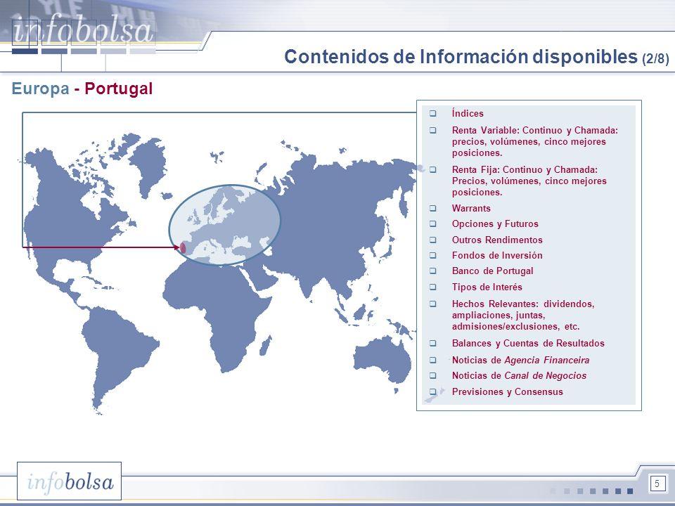 Contenidos de Información disponibles (2/8)
