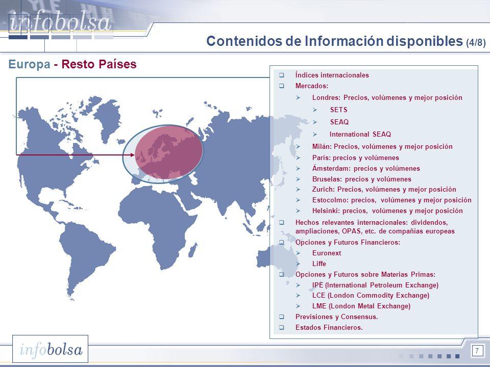 Contenidos de Información disponibles (4/8)