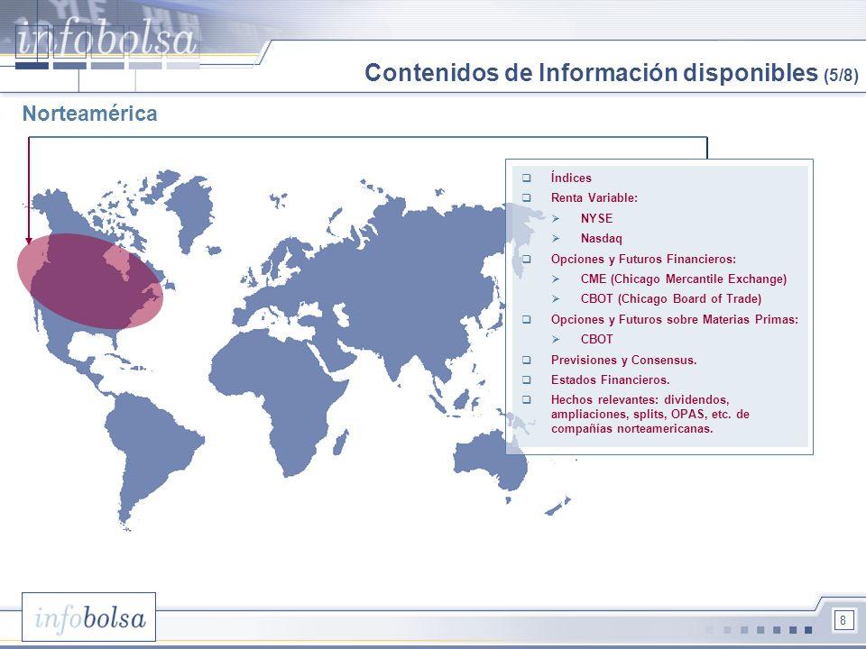 Contenidos de Información disponibles (5/8)