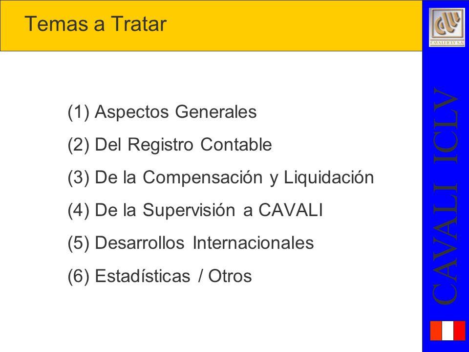Temas a Tratar (1) Aspectos Generales (2) Del Registro Contable