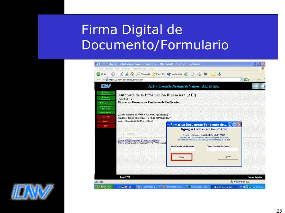 Firma Digital de Documento/Formulario
