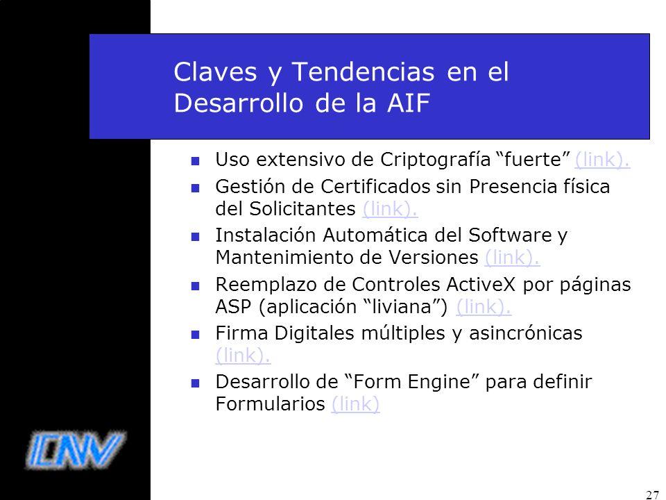 Claves y Tendencias en el Desarrollo de la AIF