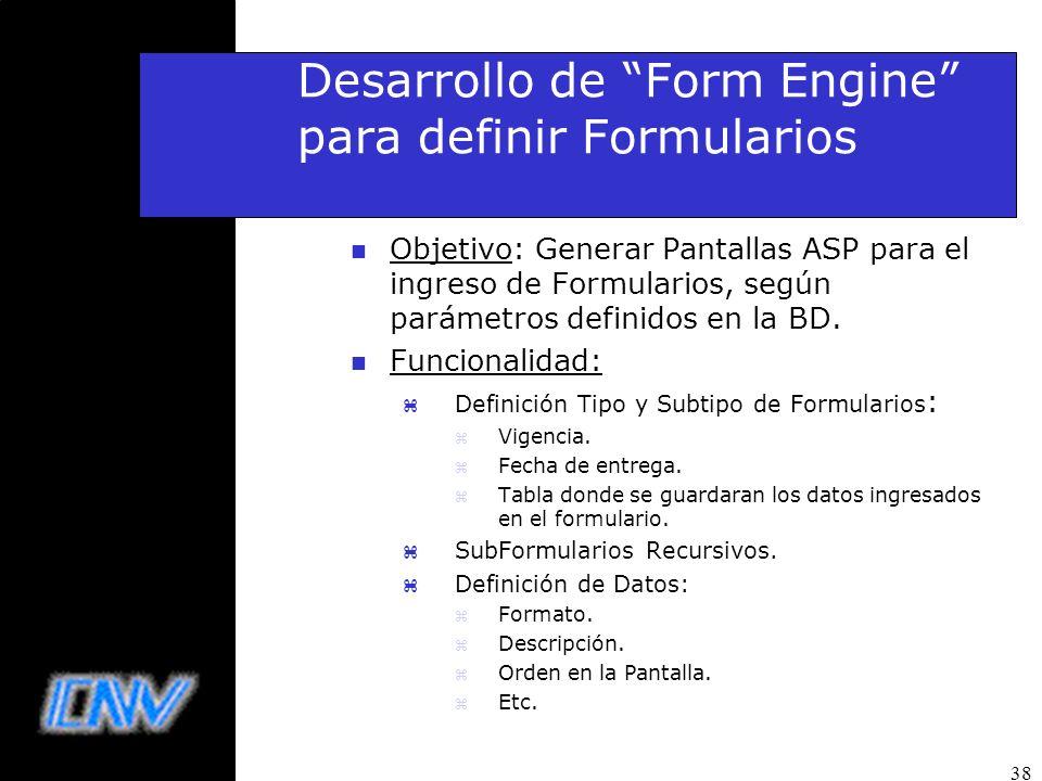 Desarrollo de Form Engine para definir Formularios