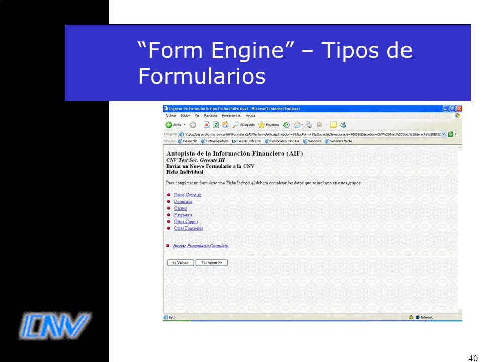 Form Engine – Tipos de Formularios