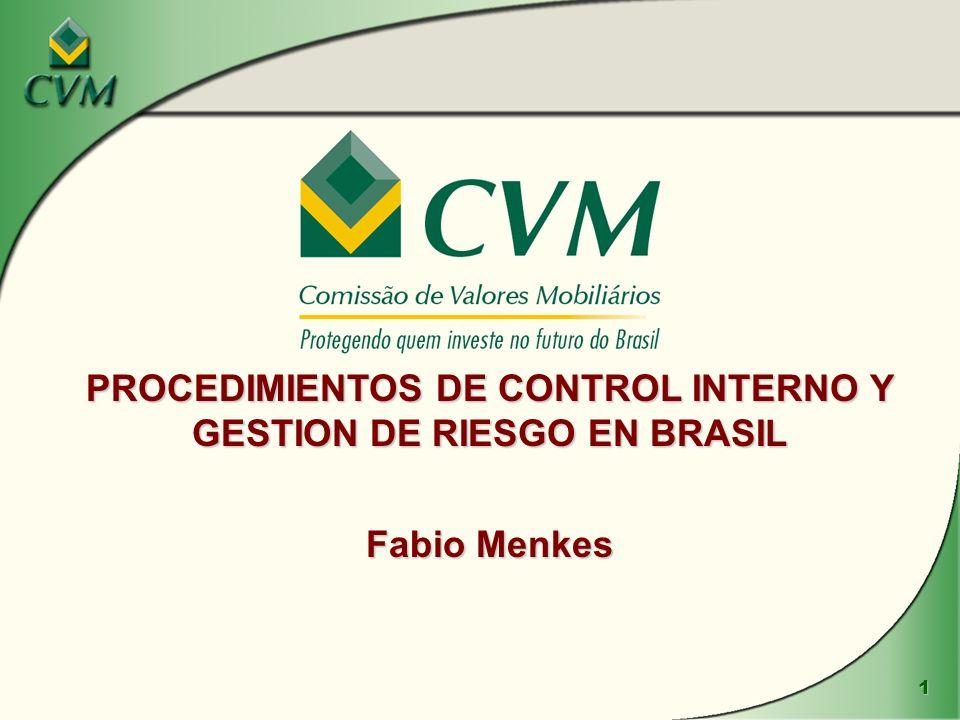 PROCEDIMIENTOS DE CONTROL INTERNO Y GESTION DE RIESGO EN BRASIL