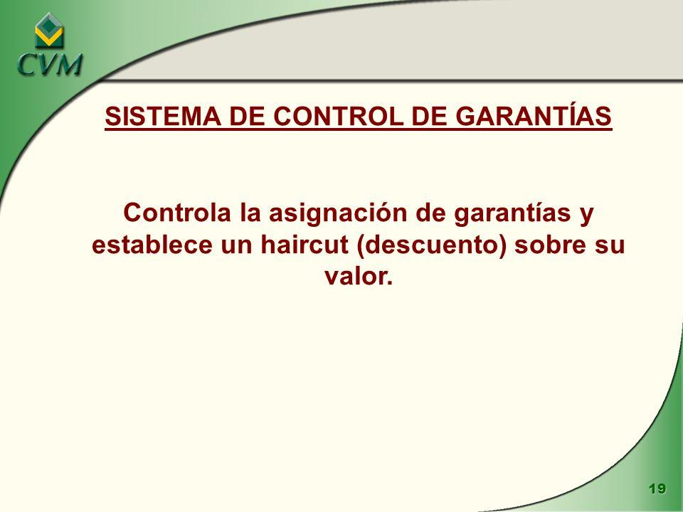 SISTEMA DE CONTROL DE GARANTÍAS