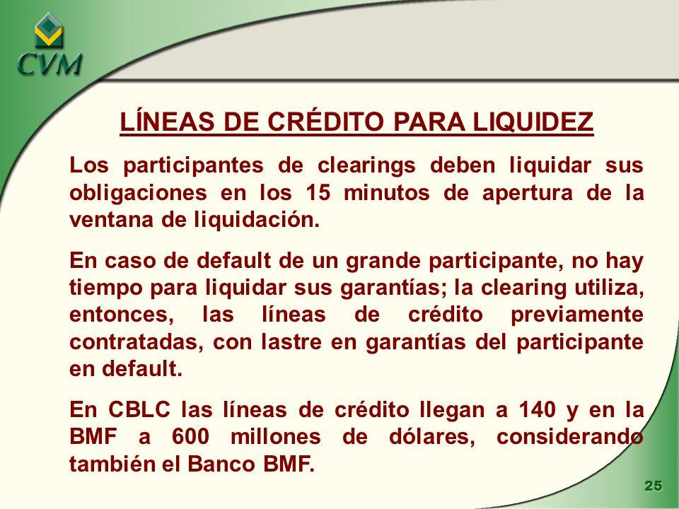 LÍNEAS DE CRÉDITO PARA LIQUIDEZ