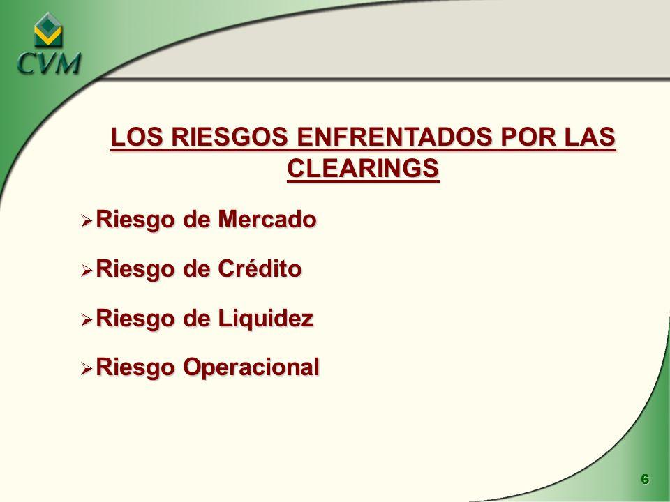 LOS RIESGOS ENFRENTADOS POR LAS CLEARINGS