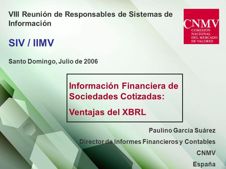 Información Financiera de Sociedades Cotizadas: Ventajas del XBRL