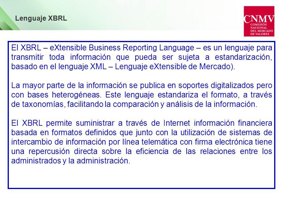 Lenguaje XBRL