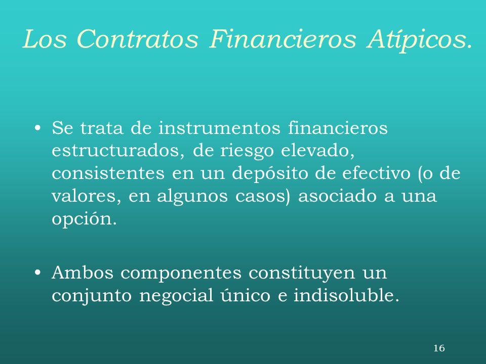 Los Contratos Financieros Atípicos.