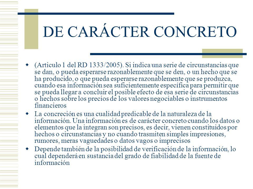 DE CARÁCTER CONCRETO