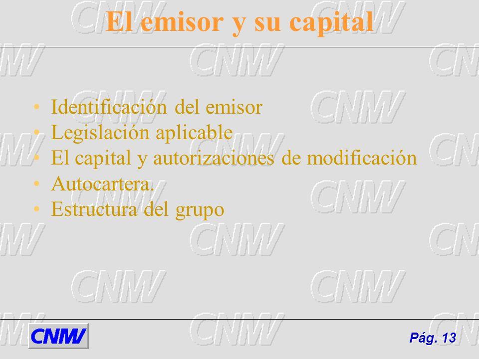 El emisor y su capital Identificación del emisor Legislación aplicable