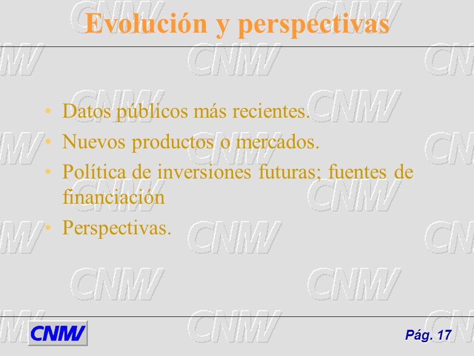 Evolución y perspectivas