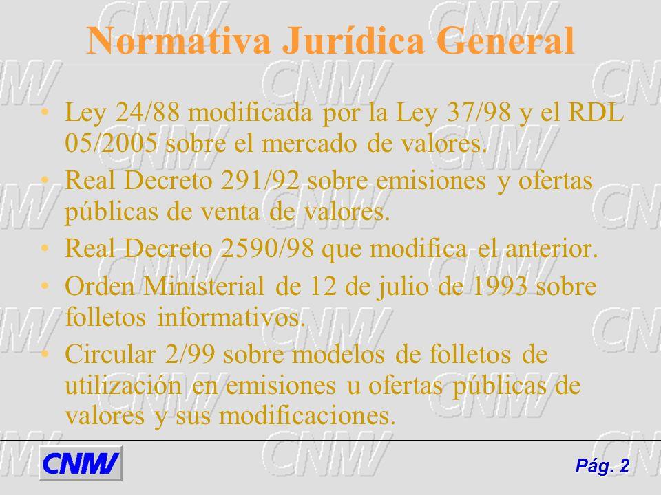 Normativa Jurídica General