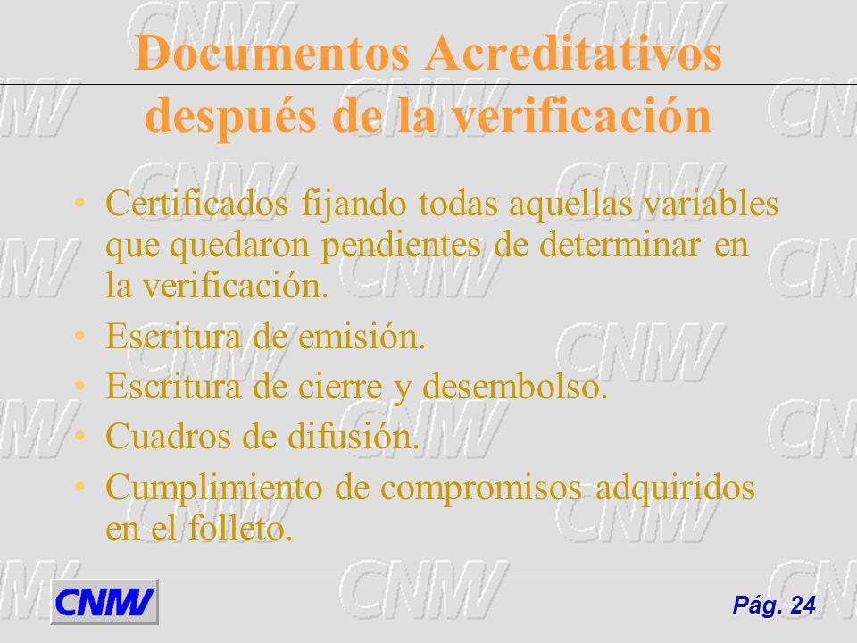 Documentos Acreditativos después de la verificación