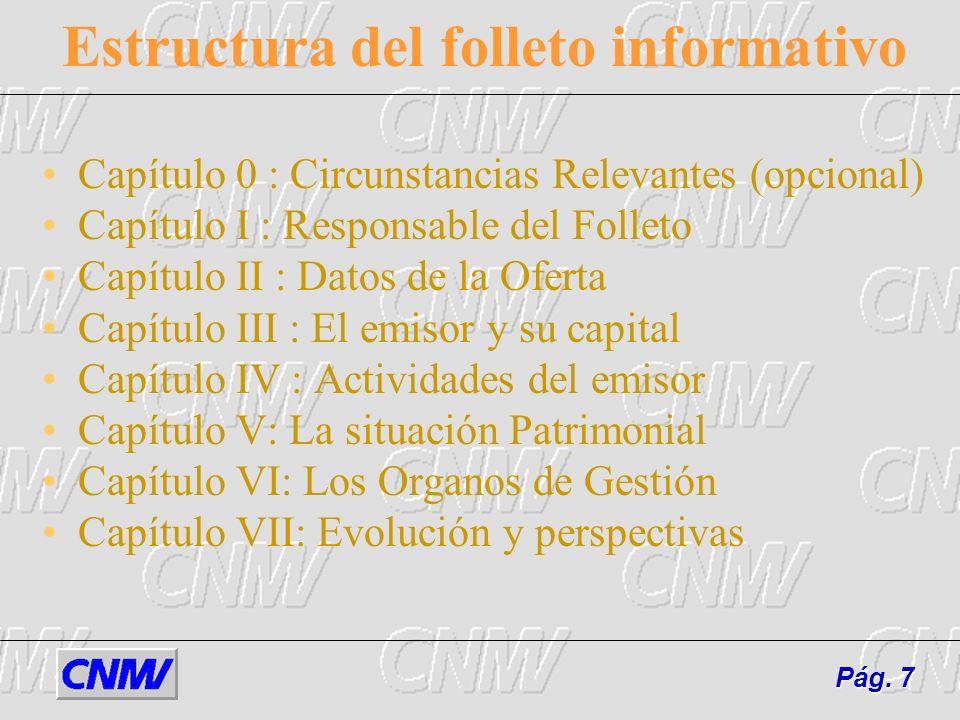 Estructura del folleto informativo
