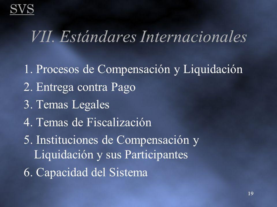 VII. Estándares Internacionales