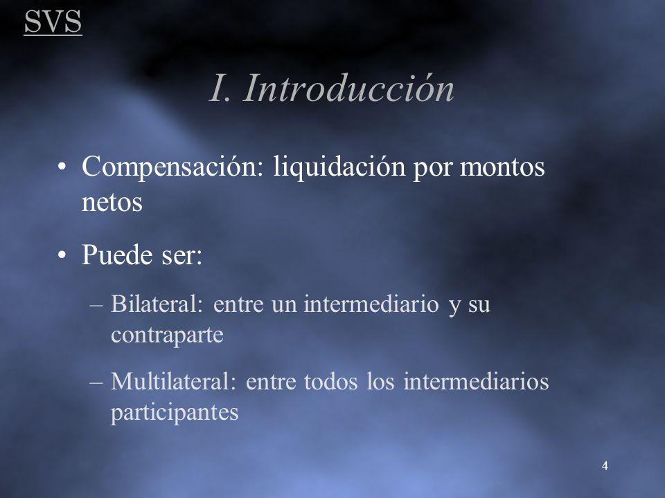 I. Introducción SVS Compensación: liquidación por montos netos
