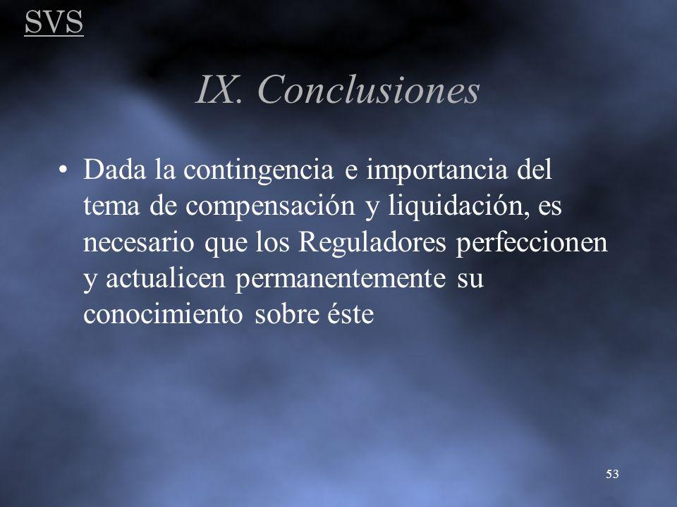 SVS IX. Conclusiones.