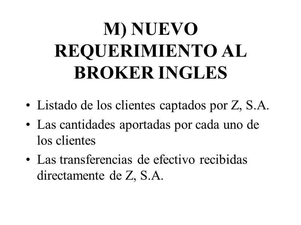 M) NUEVO REQUERIMIENTO AL BROKER INGLES