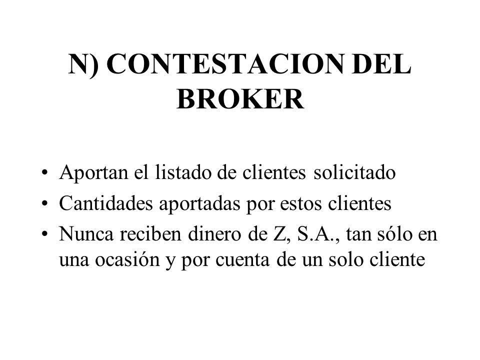 N) CONTESTACION DEL BROKER