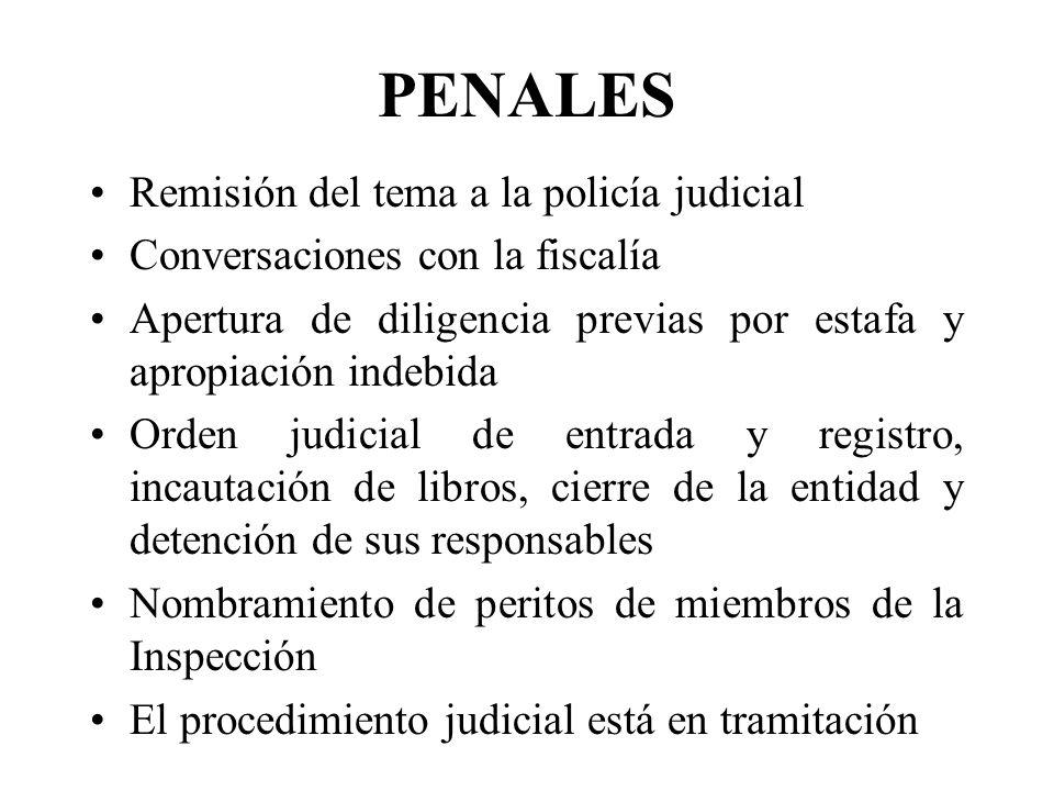 PENALES Remisión del tema a la policía judicial