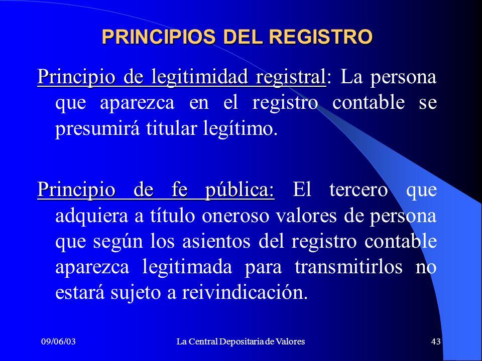 PRINCIPIOS DEL REGISTRO
