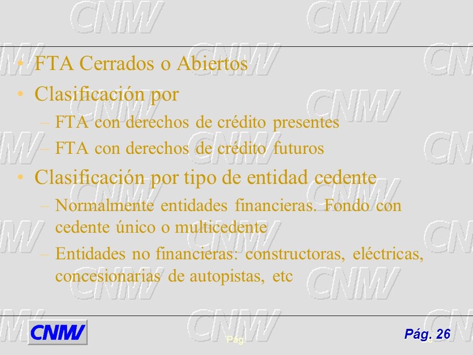 FTA Cerrados o Abiertos Clasificación por