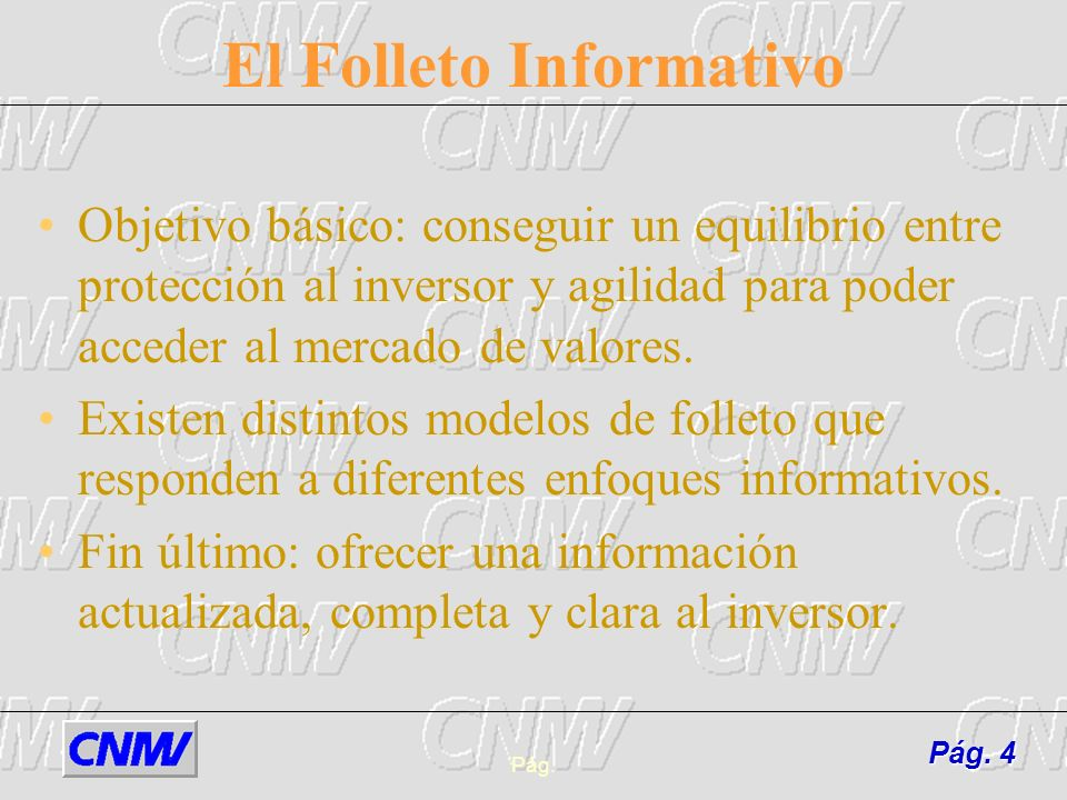 El Folleto Informativo