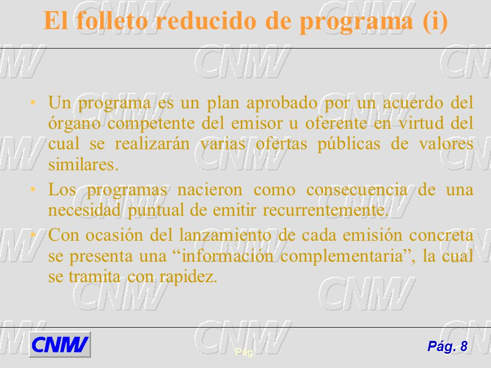 El folleto reducido de programa (i)