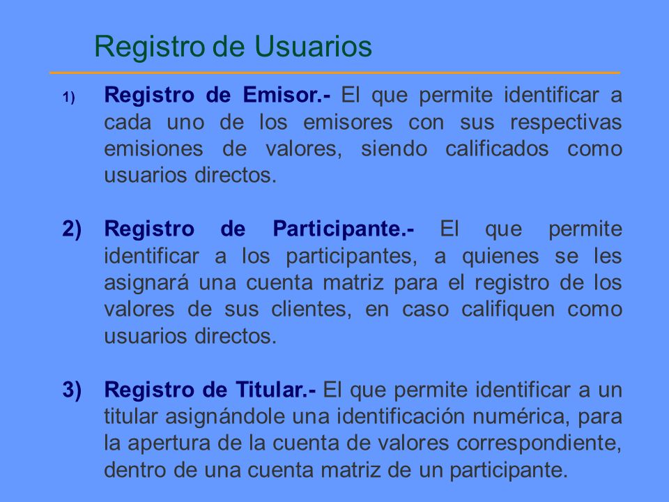 Registro de Usuarios