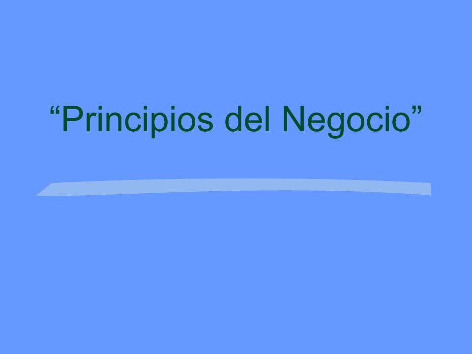 Principios del Negocio