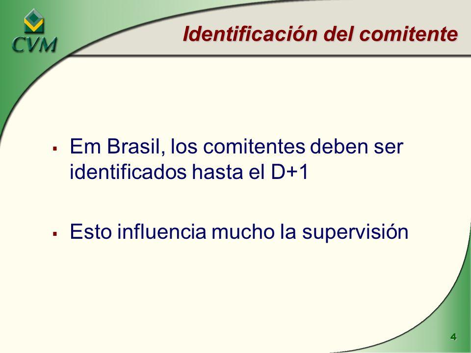 Identificación del comitente