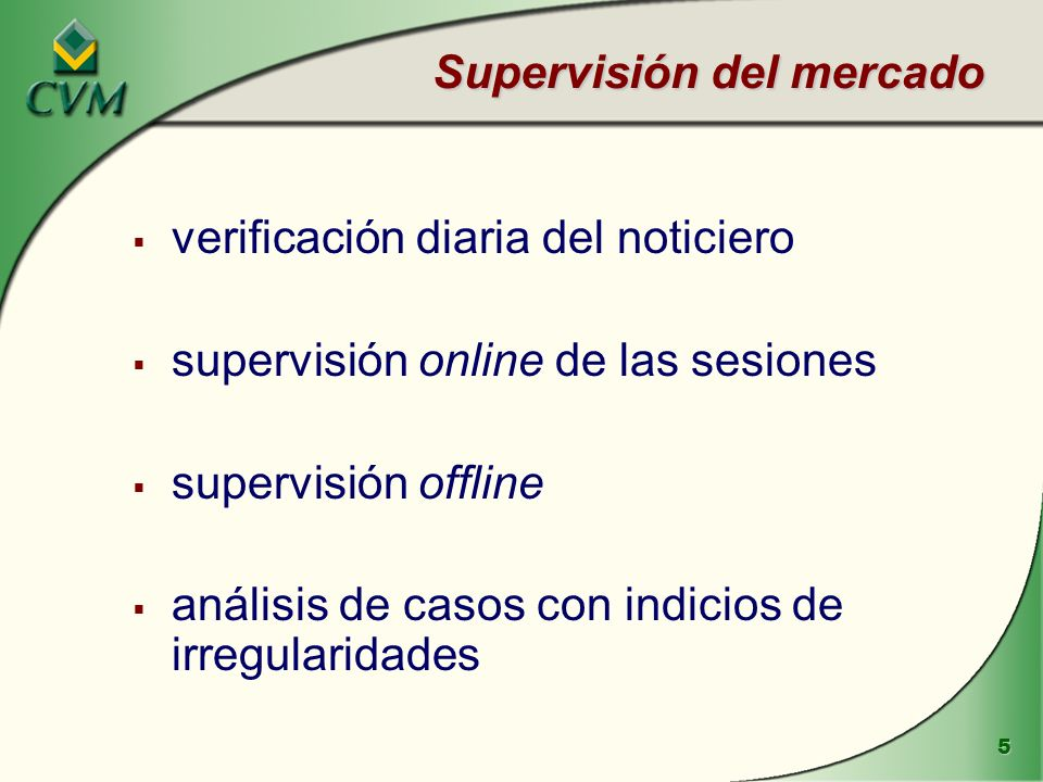 Supervisión del mercado