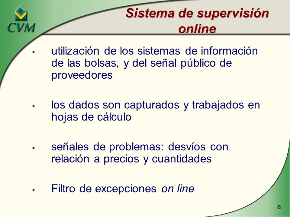 Sistema de supervisión online