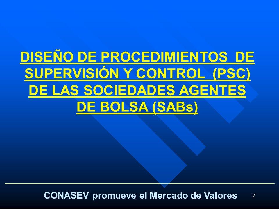 DISEÑO DE PROCEDIMIENTOS DE SUPERVISIÓN Y CONTROL (PSC) DE LAS SOCIEDADES AGENTES DE BOLSA (SABs)