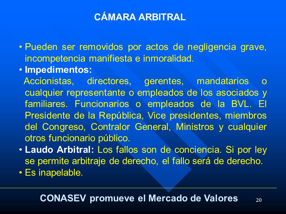 CONASEV promueve el Mercado de Valores