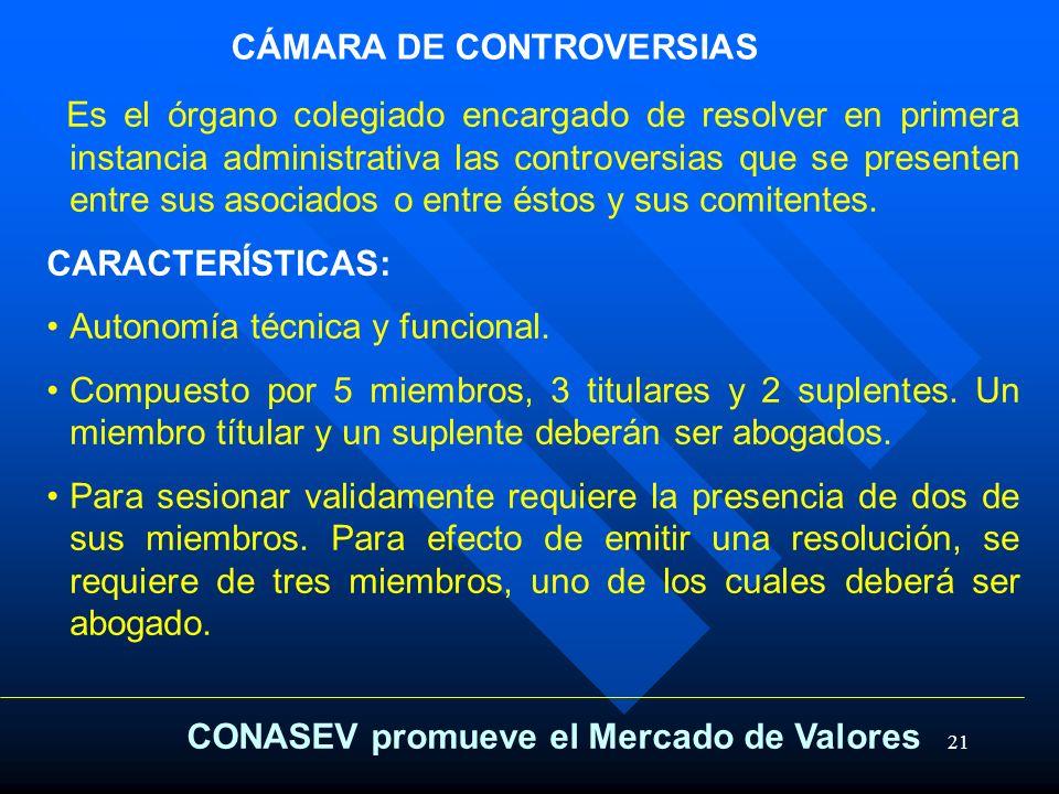 CÁMARA DE CONTROVERSIAS