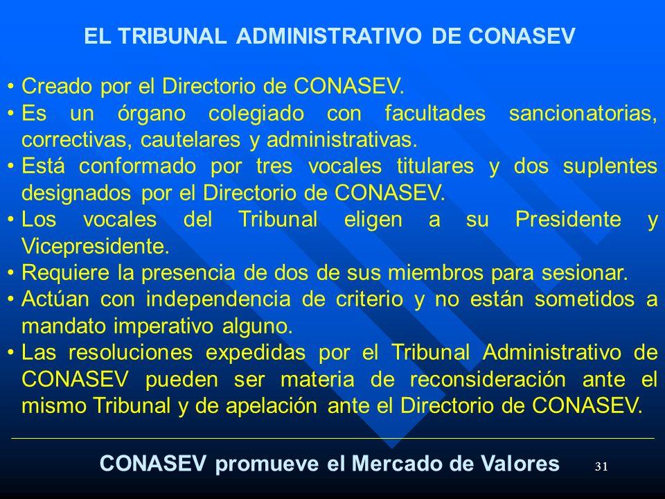 EL TRIBUNAL ADMINISTRATIVO DE CONASEV
