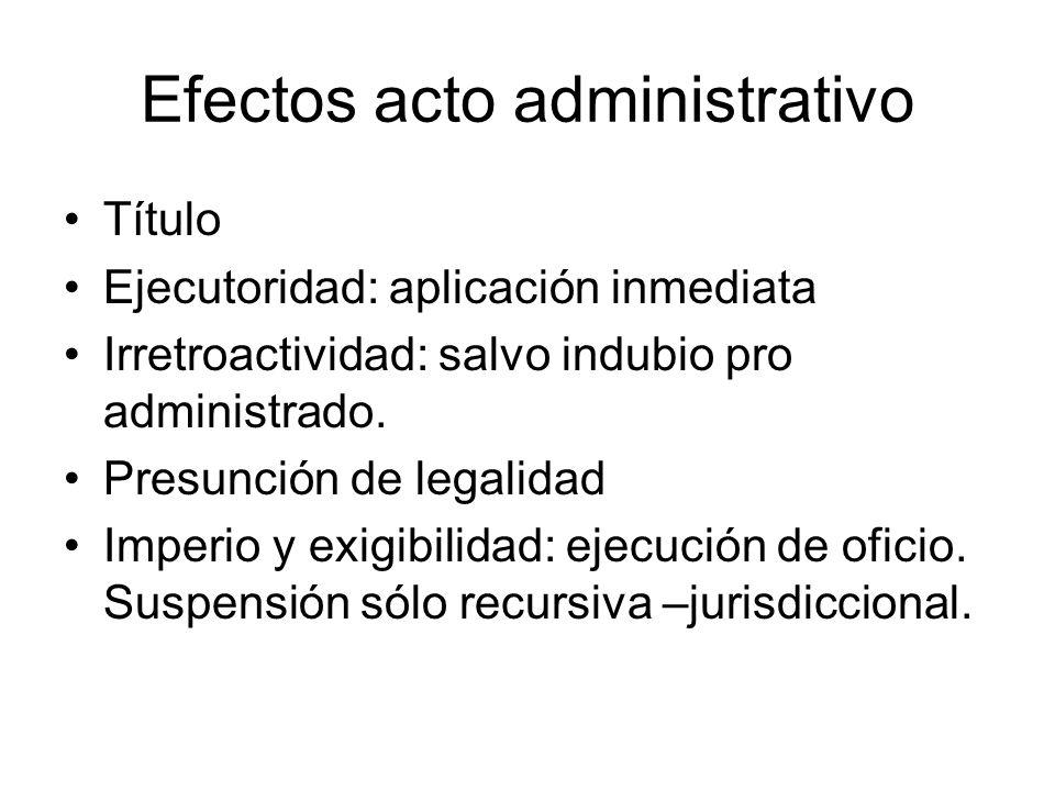 Efectos acto administrativo