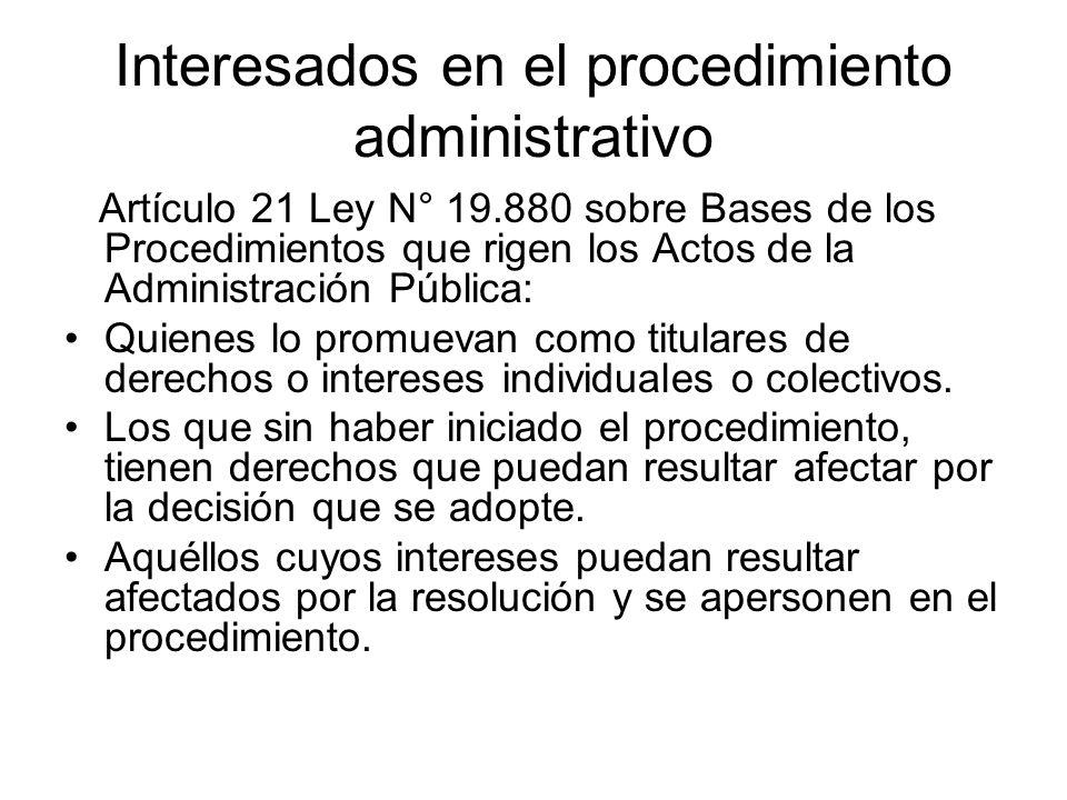 Interesados en el procedimiento administrativo