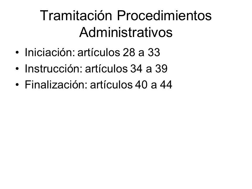 Tramitación Procedimientos Administrativos