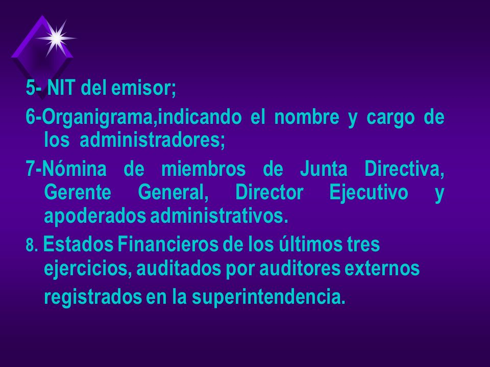 6-Organigrama,indicando el nombre y cargo de los administradores;