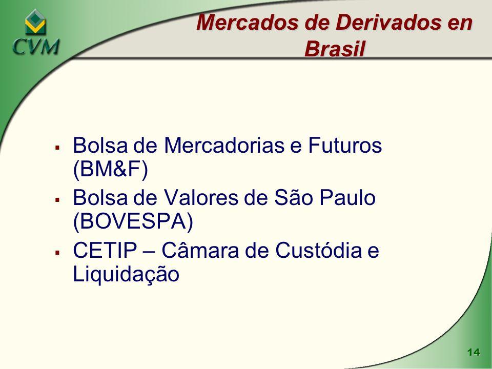 Mercados de Derivados en Brasil