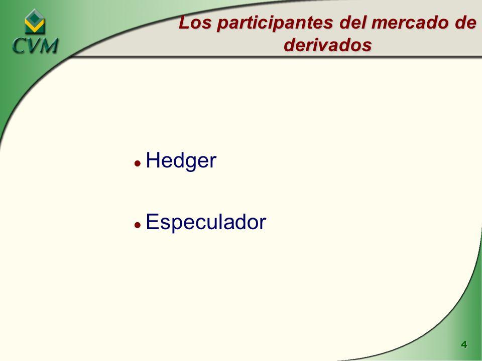 Los participantes del mercado de derivados